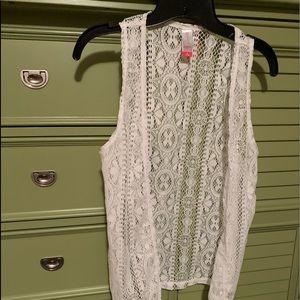 Crochet White Sweater Vest